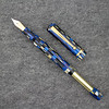 Beaumont Pneumatic  Filler in Blue/Gold Checkered Acrylic