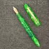 Menlo Pump Filler in Dark Green Translucent Swirl Acrylic