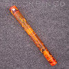Extended Mina Pump Filler in Orange Swirl Translucent with Spherical Roll Stop