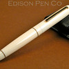 Pearl Rollerball in Ivory Celluloid with Custom Rings