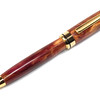 Round Top 8mm Titanium  Gold Pen shown with Mulled Wine Woodshed acrylic