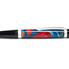 Sierra Button Click Satin Pearl Ballpoint shown with Water Works Lava Explosion