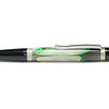 Sierra Button Click Satin Nickel Ballpoint shown with Electric Storm blank