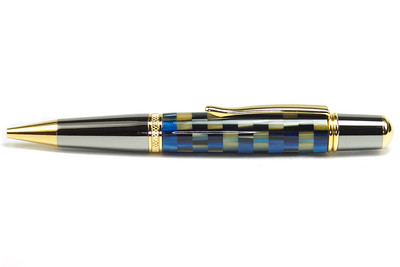 Sierra Black Titanium with Titanium Gold shown with Royal Blue and Gold Matrix BTW Blank