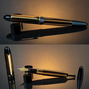 Menlo Draw Filler in Bronze/Black Striated Acrylic