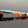 Collier Draw Filler in Clear Translucent Rainbow Swirl with Menlo Clip