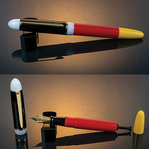 Menlo Draw Filler in Red, White, Black, Yellow Acrylic