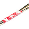 Tec Bolt Action Rifle Gold ballpoint shown with Barber Pole Bear Tooth Woods acrylic