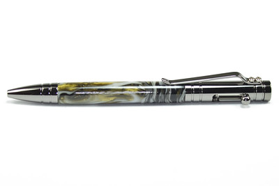 Tec Bolt Action Rifle Gunmetal ballpoint shown with Rock Road Color Swirl acrylic