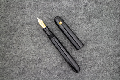 #76 Draw Filler in Black Acrylic with Sperical Roll Stop in Gold