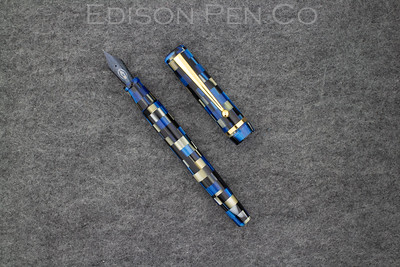 Beaumont Draw Filler in Blue/Black Checkered Acrylic with Menlo Style Section