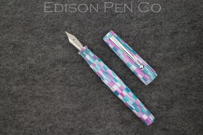 Brockton in Checkered Purple and Aqua Acrylic