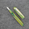 Collier in Green Yellow White Striated Acrylic