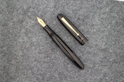 Collier Draw Filler in Black Ebonite with Custom Engraving on Cap