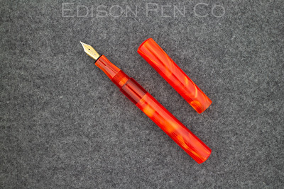 Extended Mina in Pearlized Sunfire with Translucent Red Ink View