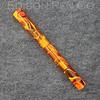 Extended Mina in Orange Swirl Translucent Acrylic