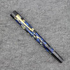 Glenmont Draw Filler in Blue/Black Checkered with Pearlized Black Finial, Section and Blind Cap.