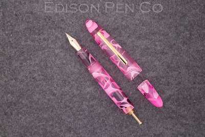 Herald Grande Pump Filler in Pink Swirl Translucent Acrylic