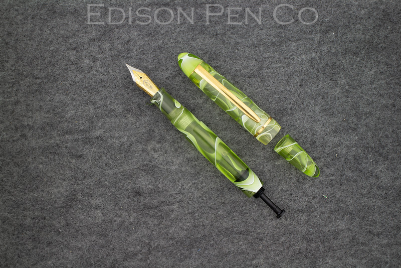 Menlo Draw Filler in Translucent Olive Swirl Acrylic