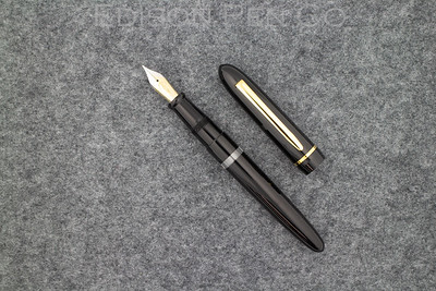 Menlo in Black Ebonite with small Clear Ink Window