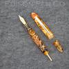 Menlo Pump Filler in Amber Swirl Translucent Acrylic