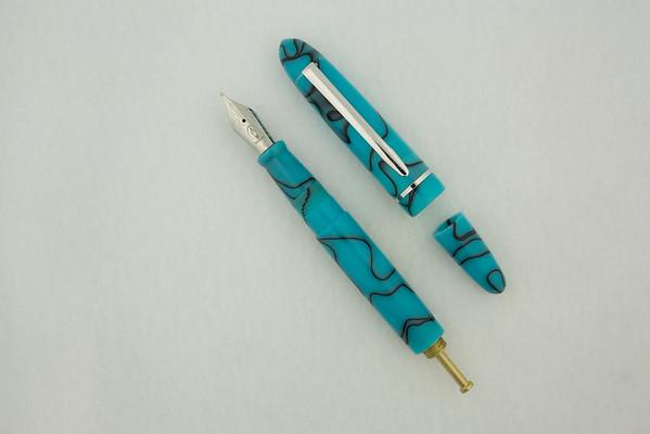 Menlo in Blue Azure Acrylic