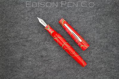 Morgan in Red Neon Swirl Acrylic