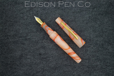 Morgan in Peach Neon Swirl Acrylic