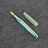 Pearlette in Blue Green White Striated Acrylic