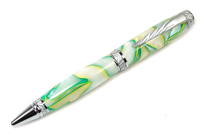 Ultra Cigar Satin Chrome/Chrome Pen shown with Key Lime acrylic