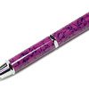 Woodworker's Pencil Chrome shown with Plum Pebble Bear Tooth Woods acrylic