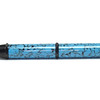 Woodworker's Pencil Black Chrome shown with Southwestern Blue Bear Tooth Woods acrylic