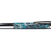 Yari Chrome and Gunmetal Ballpoint shown with Witte Teal Beyond Wood Product