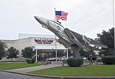 Entrance to the National Museum of Naval Aviation located in Pensacola Fa. at the navy base.