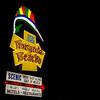 Pensacola Beach Sign Night