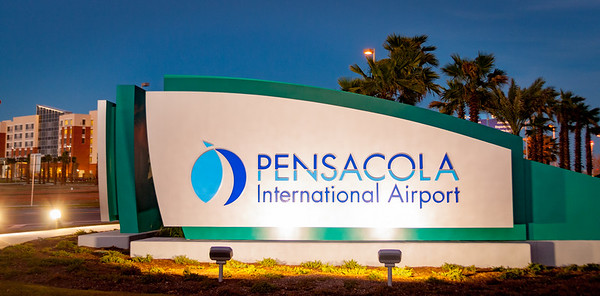 Pensacola International Airport Sign