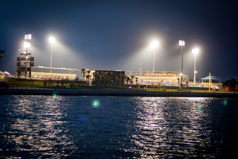 Blue Wahoos Stadium at Night