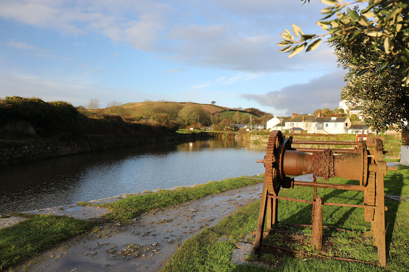 Old winch at Pentewan Harbour