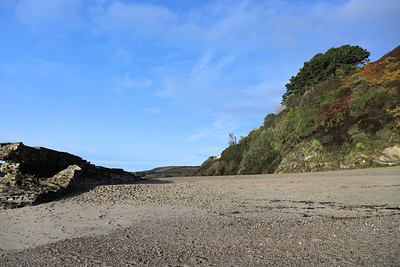 Former entrance channel to Pentewan Harbour