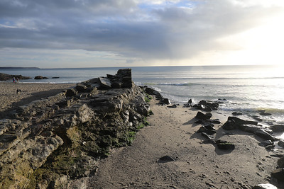 Old breakwater at Pentewan