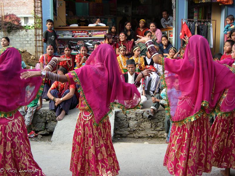 Nepali festival dance -Tihar.