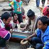 Nepali traveling band at festival