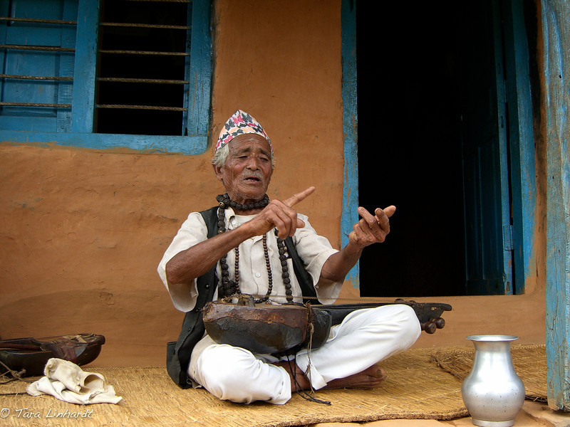 Nepali arboj player and shaman