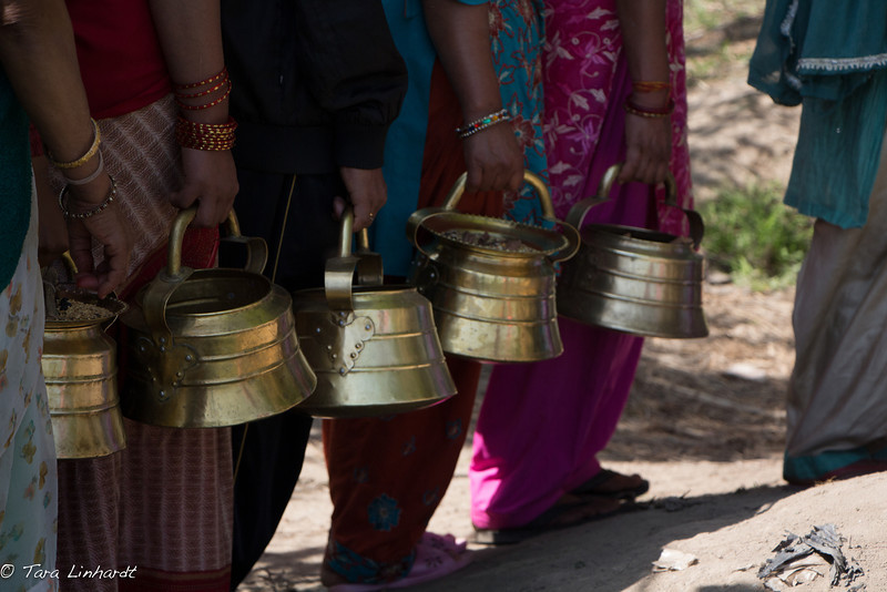 In line to worship- Nepal