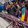 The Sugar Cane Man selling at the Festival