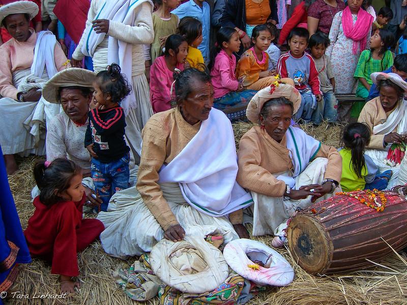 Newari pujaris in Nepal.