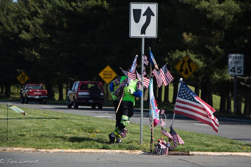 The flag man- Virginia