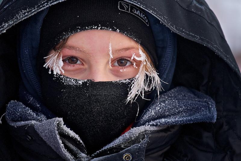Das ist Jule - bei -30°C eingefroren, aber glücklich! /<br /> This is Jule - frozen at -22°F, but happy!