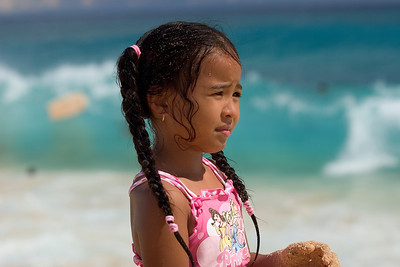 sandy beach, girl on the beach