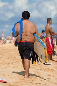 Sandy Beach, huge Boogie boarder